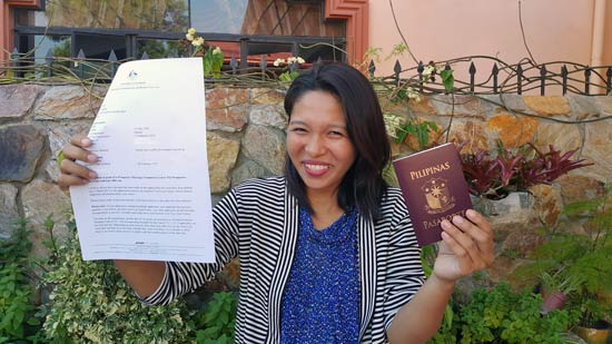 Another successful visa application and the grant of an Australian partner visa