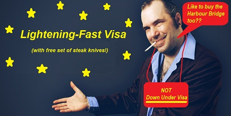 No guarantees or guaranteed outcomes with Australian visa applications