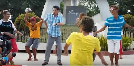 president rodrigo duterte, seen her dancing with his constituents who love his down to earth manner