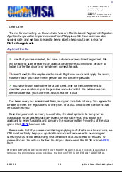 Sample Visa Assessment Letter