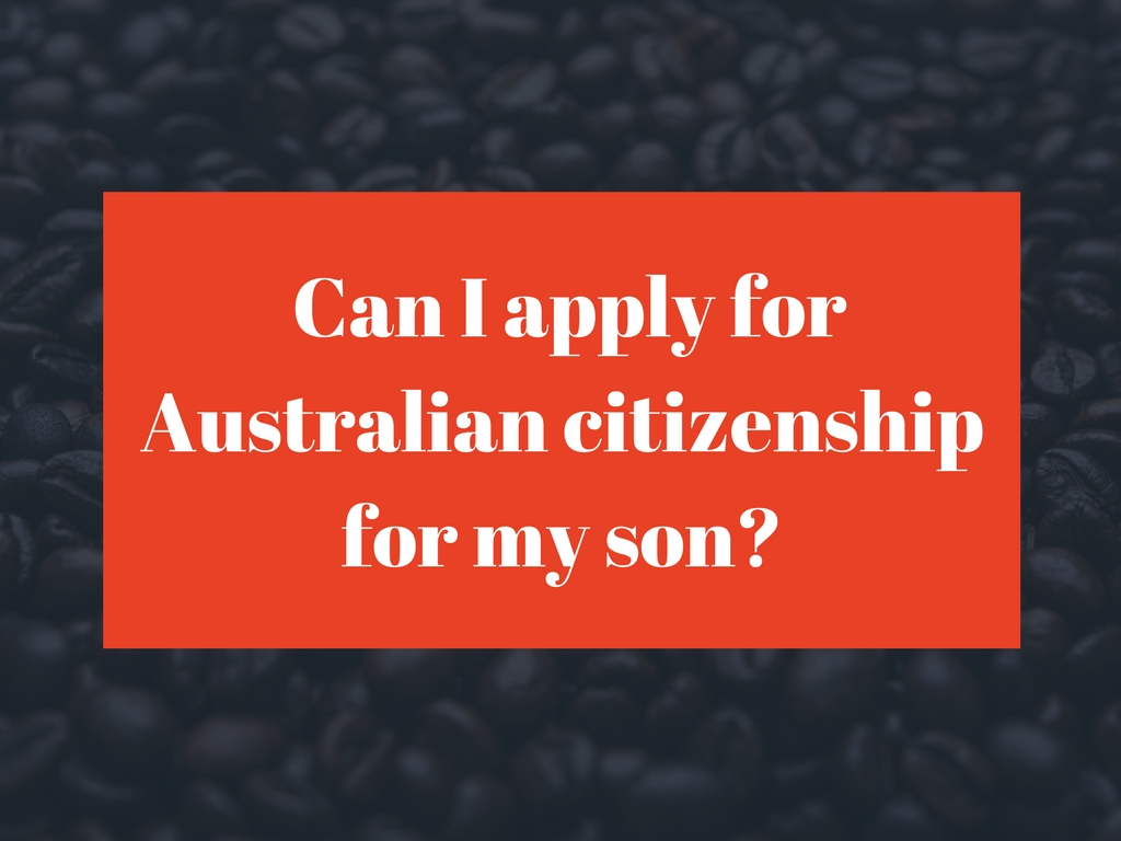 Can I apply for Australian Citizenship by descent for my child with an Australian biological father