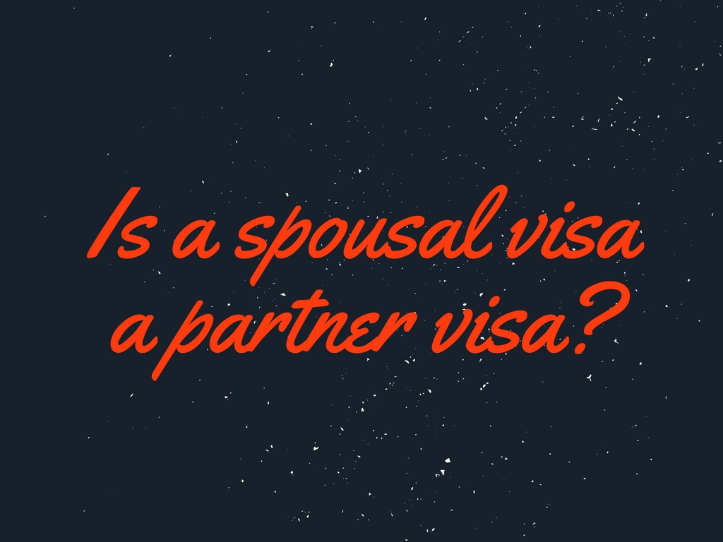 Is a spousal visa the same as a partner visa from Philippines to Australia