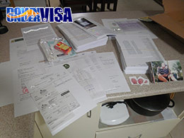 Prepared documents for an Australian Partner Visa Application