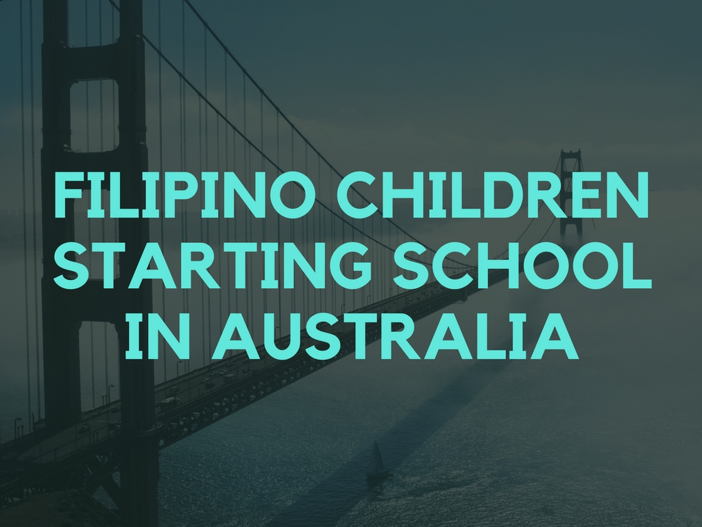 Filipino children starting school in Australia as dependent child applicants on a partner visa application