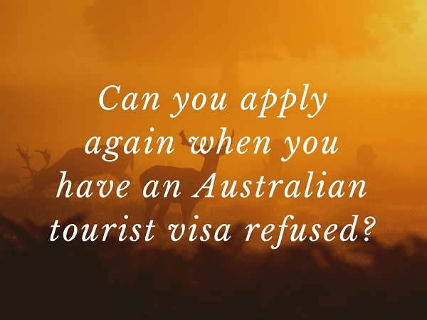 australian tourist visa refused? Can you make another visa application from Philippines to Australia?
