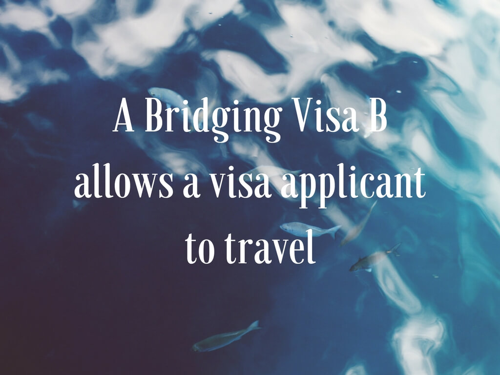 A bridging visa b allows a visa applicant to travel whereas a bridging visa a does not
