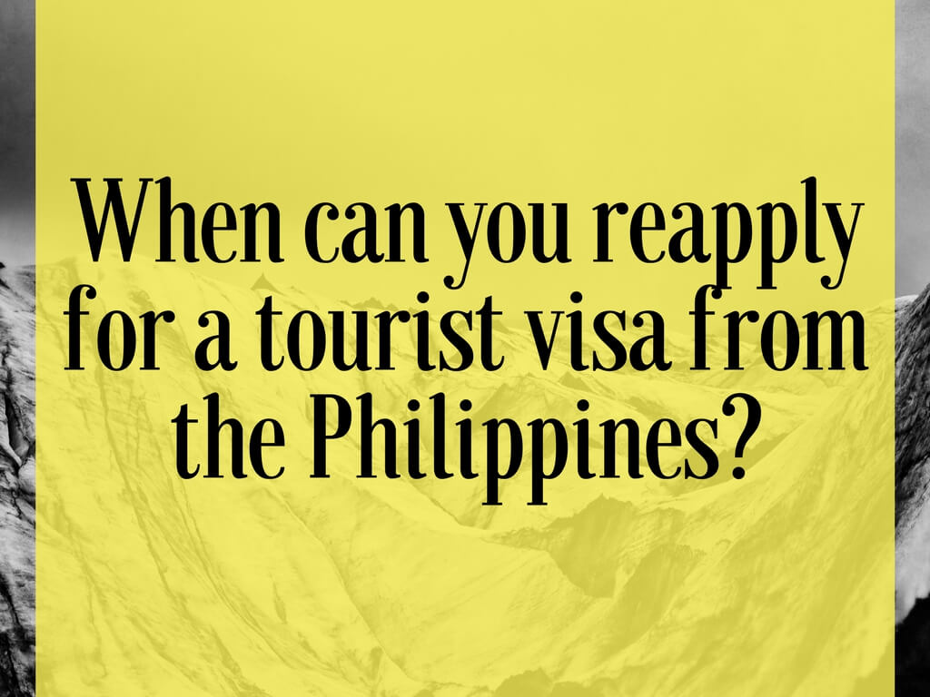 When can you reapply for a tourist visa from Philippines to Australia after a visa refusal