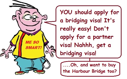 bridging visa application