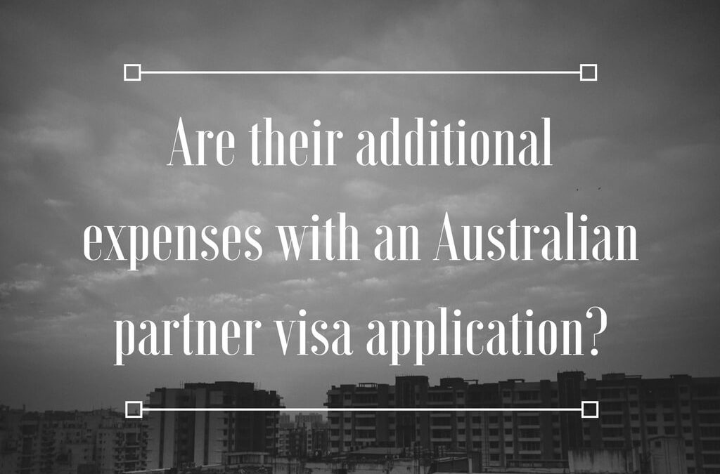 Are their additional expenses with an Australian partner visa application?
