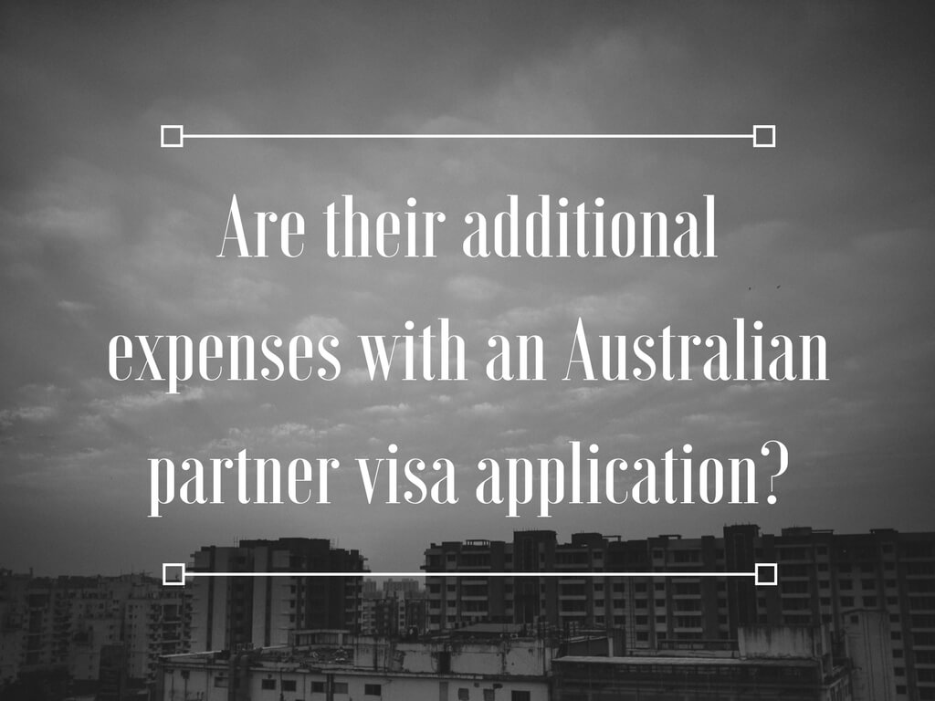Are there additional expenses with an Australian partner visa application from Philippines? Do you need to pay for health insurance for two years for the visa holder?