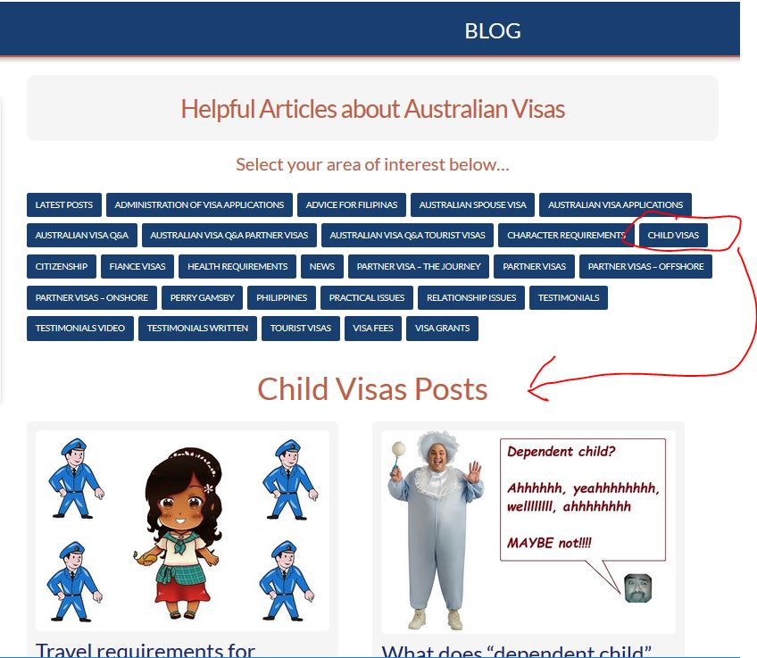down under visa blog page areas of interest