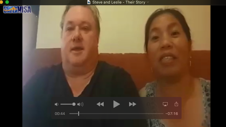 Steve and Leslie, an Australian Filipina couple with a partner visa from Philippines to Australia thanks to Down Under Visa