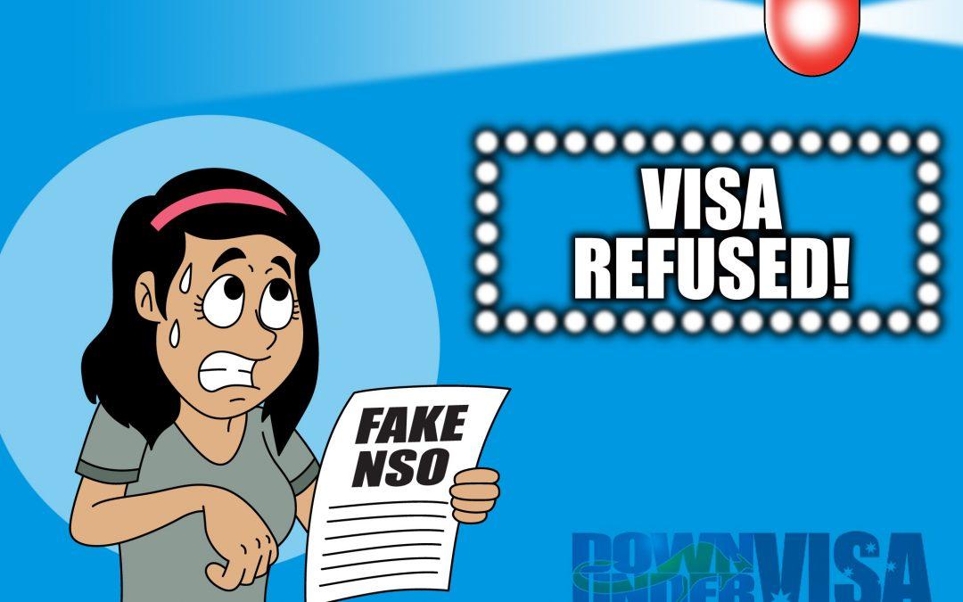 Correcting NSO document errors for Australian Visa applications
