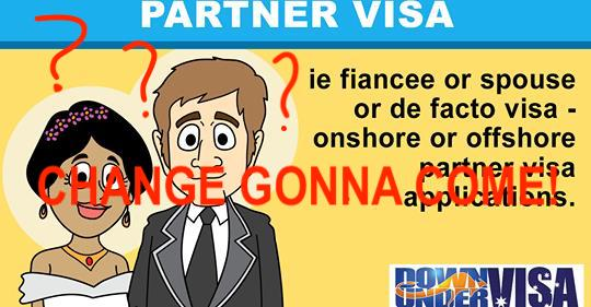 sponsorship changes to australian partner visas