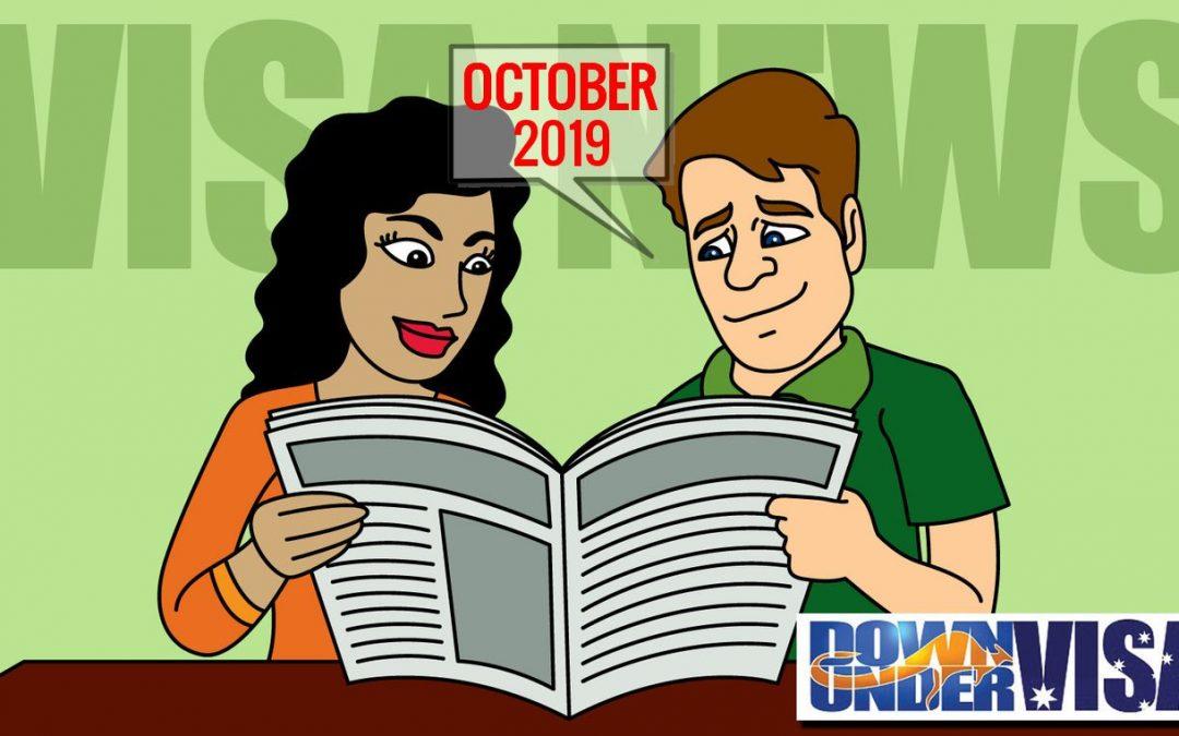 Down Under Visa – Newsletter – 2 October 2019