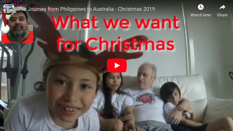 Philippines to Australia Christmas 2019