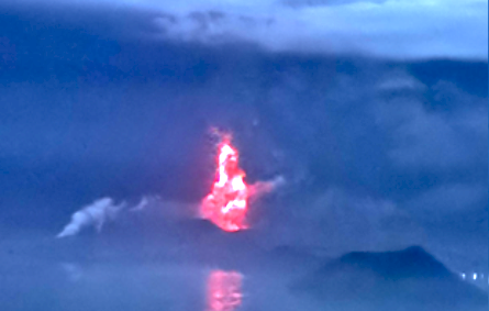 Taal volcano eruption 2020