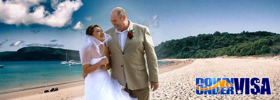 Filipina Australian Couple on beach.