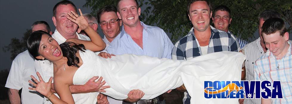 Guys holding a Filipina Bride